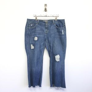 Old Navy 20 Plus Jeans Cropped Distressed Low